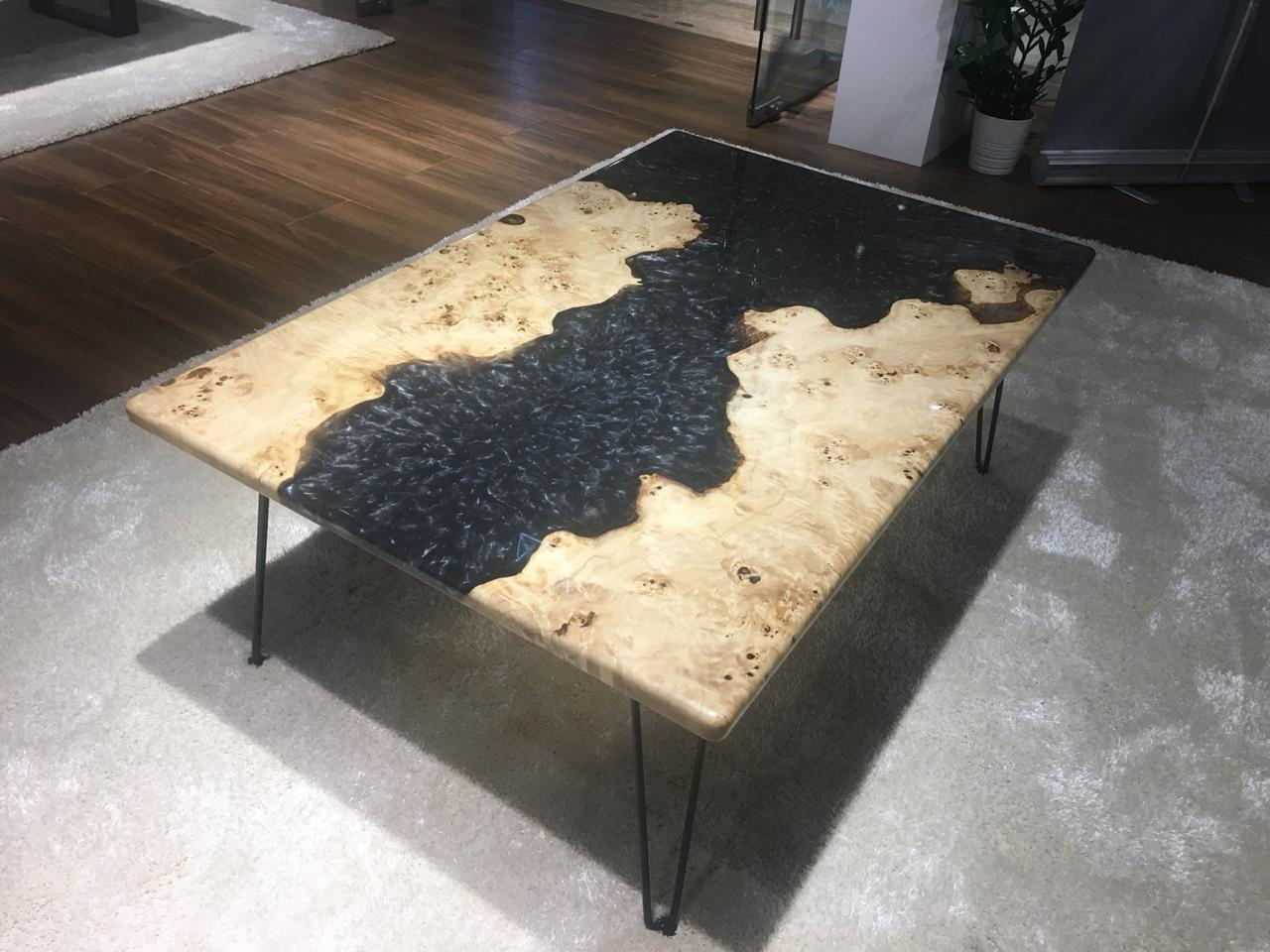 Natural Edge Live Edge Resin Coffee Table Rct Cm 118 Wood Studio