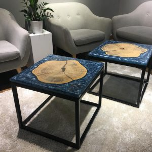 Natural Edge / Live Edge (Resin Cookie Side Table) RCST-GH-55L