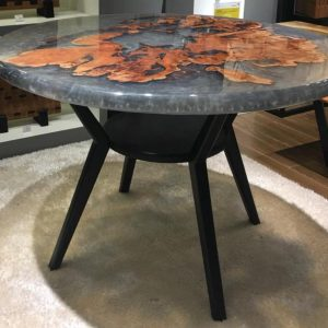 Natural Edge / Live Edge (Round Resin Dining Table) RT-DE-118D